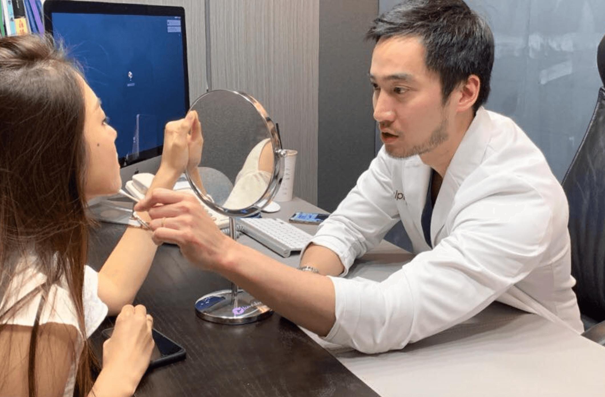 亮麗的林千又與五官精雕大師賴弘國醫師進行了一場玩美對決!